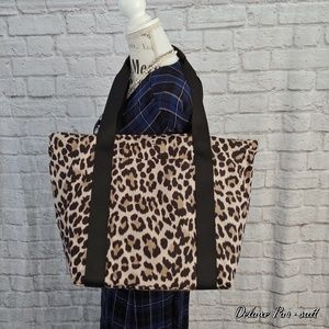 Kate Spade Thats the spirit tote leopard new XL